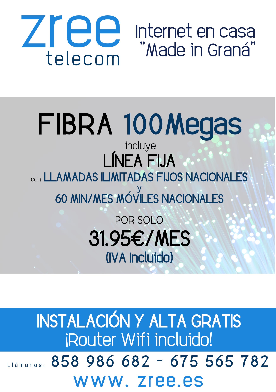 Fibra Optica en Granada y provincia al mejor precio